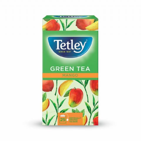 Tetley Herbal Tea - Green Tea Mango